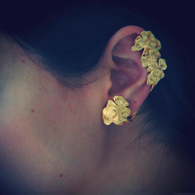 Ear cuff Ginkgo